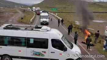Macusani: Bloquean ingreso en huelga de transportistas - Radio Onda Azul