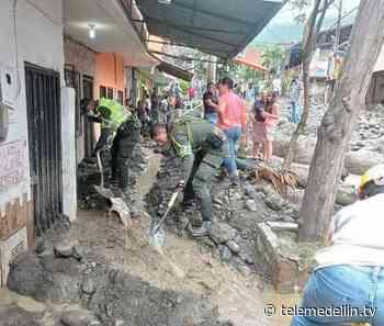 Policía brinda ayuda en remoción de lodo y escombros en Dabeiba - Telemedellín