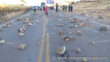 Melgar: con bloqueos de vías población de Ayaviri acatará paro de 48 horas - Pachamama radio 850 AM