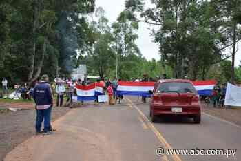 Cierre de ruta PY18 en San Juan Nepomuceno - Nacionales - ABC Color