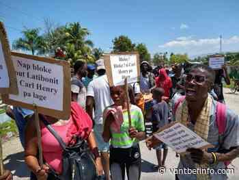 Liancourt: Des habitants ont manifesté à nouveau pour exiger la libération de Carl Henry Boucher - Vant Bef Info