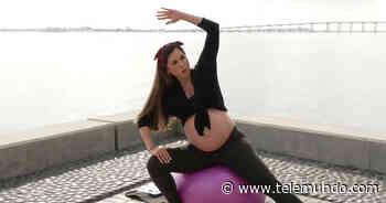 Sencilla rutina de ejercicios para embarazadas con la influencer Alexa Olavarria - Telemundo