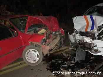 Colisão frontal deixa vítima fatal na MGC 354, município de Vazante - Patos em Destaque