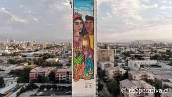 Crean mural sustentable en pleno Barrio Yungay - Cooperativa.cl