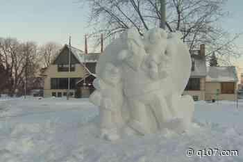 Snow sculptures brighten up the city of Dorval - q107.com