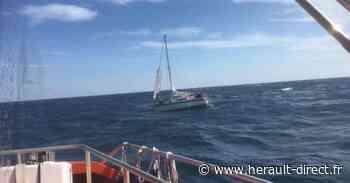 Cap d'Agde - Assistance à un voilier en difficulté à 6 miles des côtes - Hérault-Direct