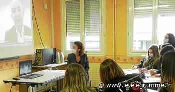 Gourin - À Gourin, des collégiens de Chateaubriant échangent avec le « Monsieur économie » de TF1 - Le Télégramme