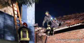 Va a fuoco l'edificio abbandonato tra corso Orbassano e strada del Portone - TorinOggi.it