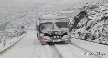 Áncash: Reportan problemas en vía Carhuaz- Chacas – San Luis tras intensa nevada - Diario Perú21