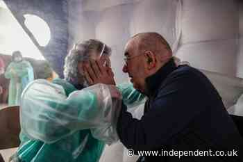 Hands touch: Italy's nursing homes emerge from COVID tunnel - The Independent