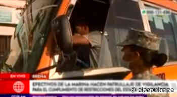 Coronavirus: Marina de Guerra controla tránsito en la Av. Alfonso Ugarte [VIDEO] - ElPopular.pe
