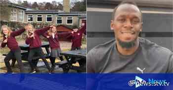 Sprint star Usain Bolt welcomes Scots pupils back to class - STV News