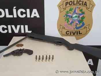 Suspeito é preso em Mimoso do Sul com espingarda adulterada - Jornal FATO