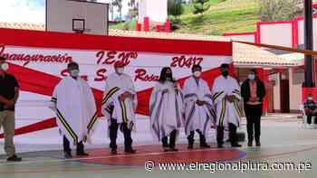 En Huancabamba, ARCC inaugura institución educativa N° 20417 de Sicur Santa Rosa, con inversión de S/ 5 568 719.18 - El Regional