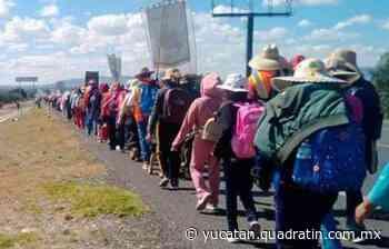 Peregrinos de SLP iniciaron viaje a San Juan de los Lagos - Quadratín - Quadratín Michoacán