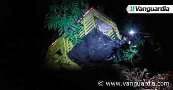 Vehículo se fue al abismo en Pinchote, Santander - Vanguardia