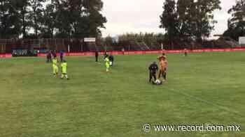 Video: Cancha se despintó en partido entre Progreso y Peñol y la repintaron 'chueca' - Diario Deportivo Récord