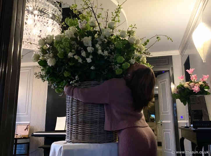 Lady Gaga shares pic of birthday roses from boyfriend & says 'I can't wait to be home with you & our dogs'