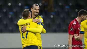 """Zlatan Ibrahimovic nach Comeback für Schweden überwältigt: Wie """"mein erstes Länderspiel"""" - Eurosport DE"""