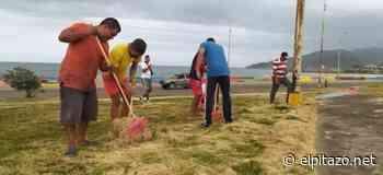 Fotos | 775 personas hicieron trabajo comunitario por no usar tapabocas en Carúpano - El Pitazo