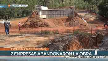 Moradores de Capira piden culminar construcción de carretera en abandono - Telemetro