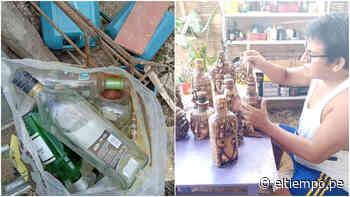Artesanos de Zorritos usan botellas desechadas en la playa para realizar obras de arte - El Tiempo - Diario El Tiempo | Piura | Noticias