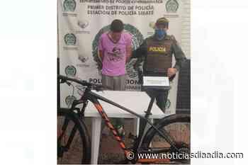 Detenido escapando con bicicleta robada en Sibaté, Cundinamarca - Noticias Día a Día