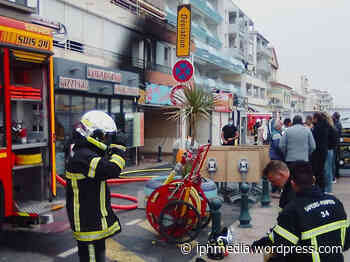 PALAVAS-LES-FLOTS : Un magasin de textiles totalement détruit dans un incendie. - IPH Média