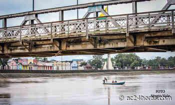 Com vazante, Rio Acre sai da cota de alerta e volta aos 12 metros neste sábado - ac24horas.com