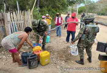 Ejército entregó 50 mil litros de agua a comunidades indígenas de Coyaima - Alerta Tolima