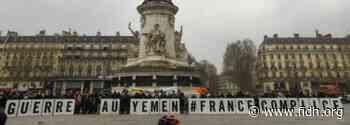 Ventes d'armes de la France : Un die-in à Paris pour dénoncer la complicité silencieuse de la France dans la pire crise humanitaire au monde - FIDH