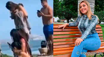 Gianella Ydoña es captada en playa de Chancay con amigos pese a estar prohibido - ElPopular.pe