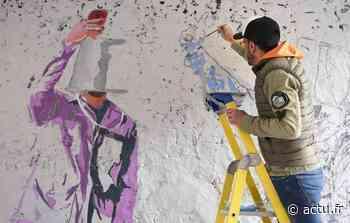 Fontainebleau. David David a fait le mur in extremis chez ArtFontainebleau - La République de Seine-et-Marne