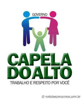 Processos seletivos Prefeitura de Capela do Alto SP 2021: Até R$4,6 mil - Notícias Concursos