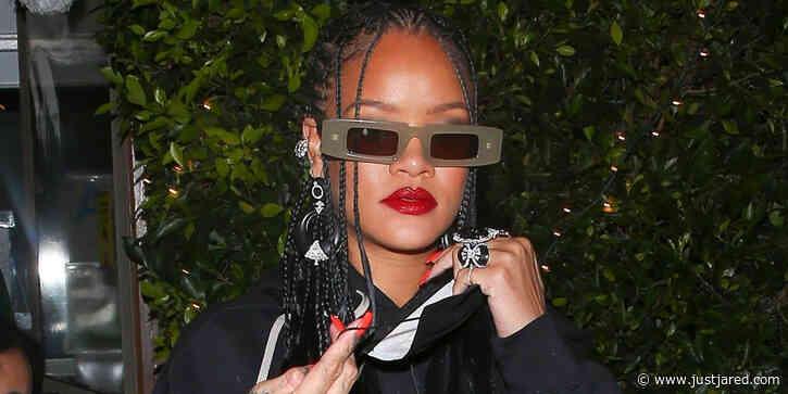 Rihanna Rocks Cool Leather Skirt For Dinner After Celebrating 'Anti' Album Anniversary
