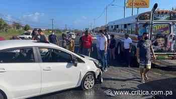 Vuelco y colisión en Sabanitas y Portobelo (Videos) - Crítica Panamá
