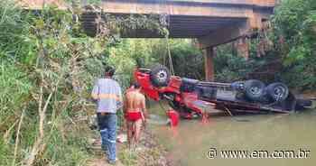 Queda de caminhão em riacho mata uma pessoa em Pedro Leopoldo, na Grande BH - Estado de Minas