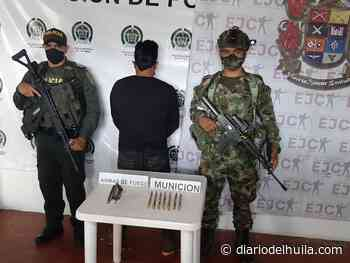 Capturado hombre en Nátaga por porte ilegal de armas - Diario del Huila