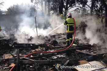 AGDE : 2 caravanes détruites et 2 hectares de brûlé. - IPH Média