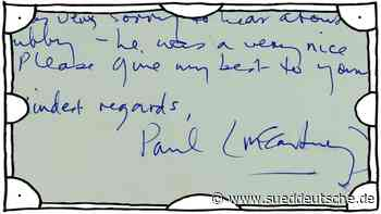 Post von den Beatles: Brief von Paul McCartney wird versteigert - Süddeutsche Zeitung - SZ.de