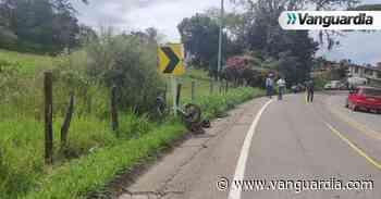Motociclista perdió la vida tras chocar contra una cerca en Oiba, Santander - Vanguardia