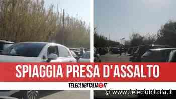 Lago Patria, spiaggia libera presa d'assalto nel pomeriggio: traffico e gente senza mascherina - Teleclubitalia.it