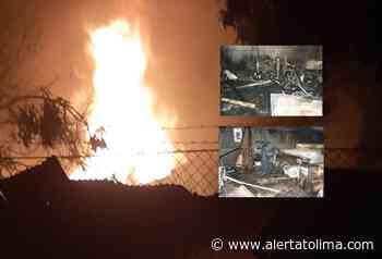 Incendio estructural en una carpintería del barrio Armero de Venadillo - Alerta Tolima