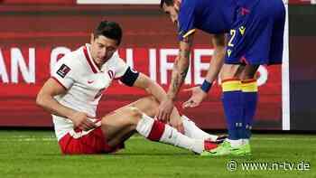 Ausfall auch gegen RB und PSG: Lewandowski fehlt mit Knieverletzung wochenlang
