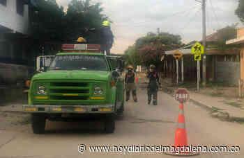 Bomberos realizan jornada de desinfección en Nueva Granada para evitar propagación del Covid-19 - Hoy Diario del Magdalena