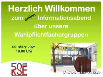 Realschule Elsenfeld: Online-Infoveranstaltung zu den Zweigen - Main-Echo