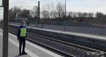 Bahnhaltestelle Stettfeld Viele Züge fahren am neuen S-Bahn-Halt in Ubstadt-Weiher vorbei von Arved - BNN - Badische Neueste Nachrichten
