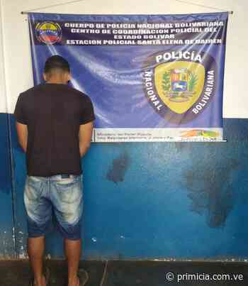 Capturado por violencia de género en Santa Elena de Uairén - Diario Primicia - primicia.com.ve