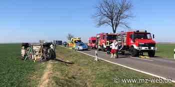 Unfall auf L158 zwischen Welfesholz und Hettstedt - Mitteldeutsche Zeitung