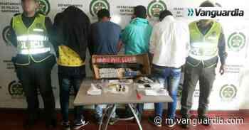 Fueron capturadas cuatro personas que habían hurtado en Pinchote - Vanguardia Liberal
